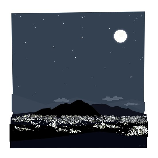 Caracas City at Night by Friztin Art Print