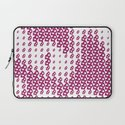 Pink Pebble Pattern Laptop Sleeve