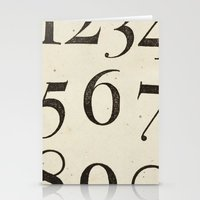 Vintage Numbers Stationery Cards