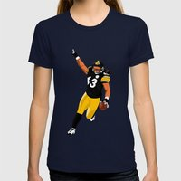 Tasmanian Devil Womens Fitted Tee Navy SMALL