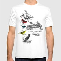 Etude - Angry Birds Mens Fitted Tee White SMALL