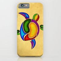 turtle iPhone & iPod Cases featuring Turtle by Aleksandra Mikolajczak
