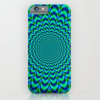 Pulse in Blue and Green iPhone 6 Slim Case