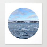Telescope 9 Ice Floe Canvas Print