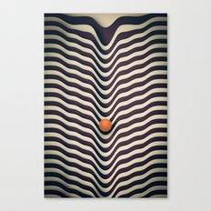 Dot V (melt) Canvas Print