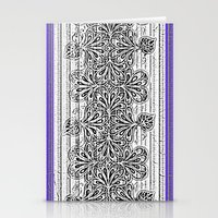 Newspaper Stripe Stationery Cards