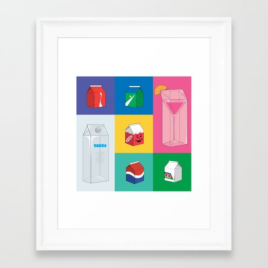 Stuff in a box Framed Art Print