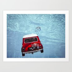 deep water swimming mini #1 Art Print