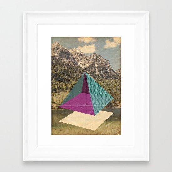 piramidi&nuvole Framed Art Print