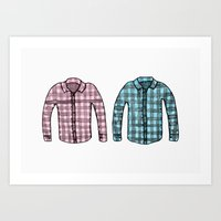 Flannel shirts Art Print
