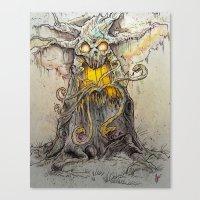 Spooky Tree Canvas Print