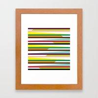 Irregular stripes #1 Framed Art Print