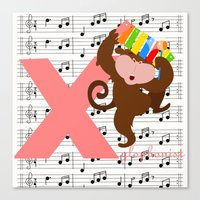 X For Xylophonist Canvas Print