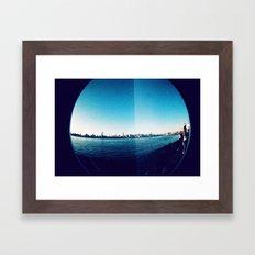Manhattan Skyline Framed Art Print
