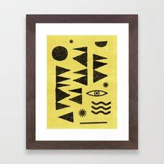 Tangential Paralysis. Framed Art Print