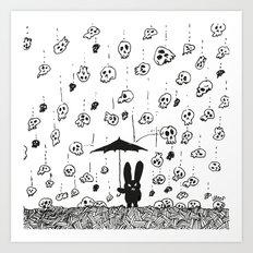I'm Only Happy When It R… Art Print