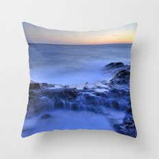 Blue seaside Throw Pillow