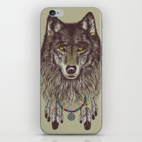Wind Catcher Wolf iPhone & iPod Skin