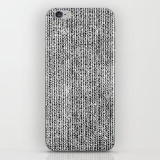 Stockinette Black iPhone & iPod Skin