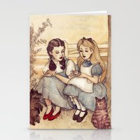 alice Stationery Cards featuring Dorothy and Alice by Helen Green