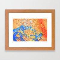 Weathered And Peeling Framed Art Print
