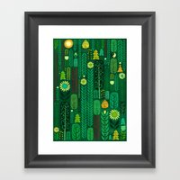 Sacred Forest (Portrait) Framed Art Print