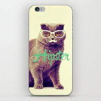 Turquoise Funny Cat Cute… iPhone & iPod Skin