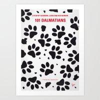 No229 My 101 Dalmatians minimal movie poster Art Print