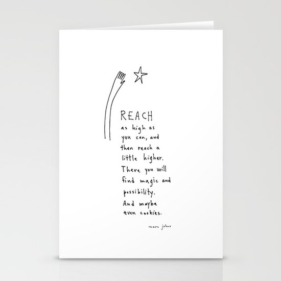 reach as high as you can Stationery Card