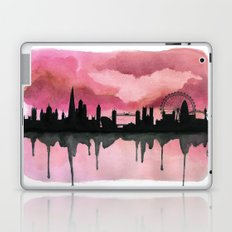 London Skyline 2 Pink Laptop & iPad Skin