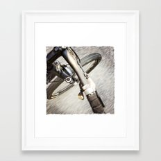 Moving Pavement Framed Art Print