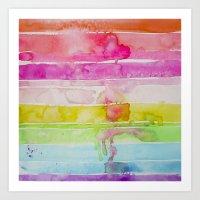 Fruity Stripe Art Print