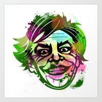 joker Art Prints featuring JoKER by BIG Colours