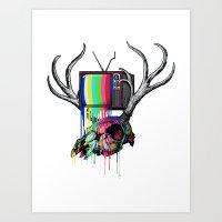 COLORS TV Art Print