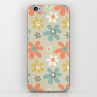 flowers pattern iPhone & iPod Skin