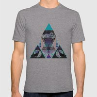 Birdwatching Mens Fitted Tee Athletic Grey SMALL