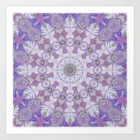 Jungle Kaleidoscope Amethyst Art Print