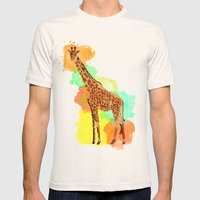 GIRAFFE: THE GENTLE GIAN… Mens Fitted Tee Natural SMALL