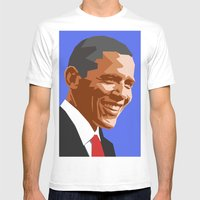 Barack 2 Mens Fitted Tee White SMALL