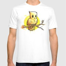 Stop Overthinking This Gosh Darn Crap and Just Draw a Bird! SMALL Mens Fitted Tee White