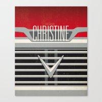 Minimal Poster - Christine Canvas Print