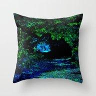 Mystical Path Throw Pillow
