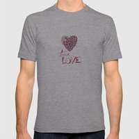 True Love Mens Fitted Tee Athletic Grey SMALL