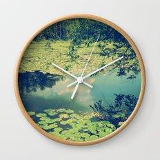 Lily Pad Pond Wall Clock