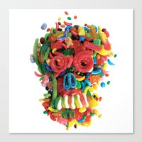 Death And Tooth Decay Canvas Print
