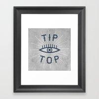 Tip Top Framed Art Print