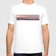 Napoli, landscape with volcano Vesuvio and sea SMALL Mens Fitted Tee White