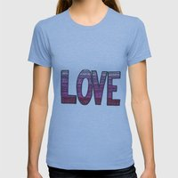 Love Design Womens Fitted Tee Athletic Blue SMALL