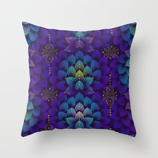 Variations on A Feather IV - Stars Aligned Throw Pillow