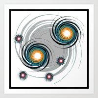 Spinning worlds Art Print